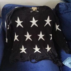 WildFox White Label Shredded Lennon Sweater